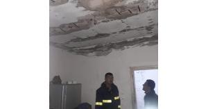 إخلاء منزل من سكانه بعد انهيار سقفه في العدسية الشمالية