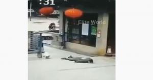 بالفيديو .. تساقط الناس في شوارع ووهان الصينية بسبب كورونا