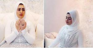 سعودية تحتفل بطلاقها بفسان ابيض.. فيديو