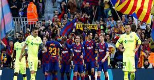 برشلونة ينجو من انتفاضة خيتافي