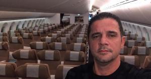 مسافر اردني وحيد في طائرة ذاهبة إلى الصين.. صور