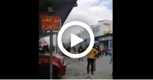 بالفيديو .. مشاجرة في مجمع الزرقاء القديم واطلاق العاب نارية