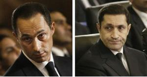 اعلان براءة نجلي مبارك من هذه التهمة