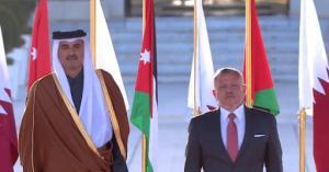 الأمير تميم: سعيد بزيارتي للأردن