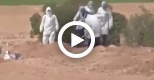 شاهد ..هكذا دفنت المتوفاة الأردنية بفيروس كورونا