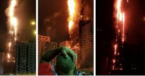 شرطة الشارقة تكشف سبب حريق البرج السكني