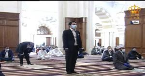 ولي العهد الأمير الحسين بن عبدالله الثاني يؤدي صلاة الجمعة