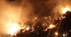 حريق ضخم في لبنان - فيديو