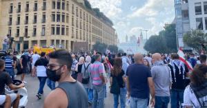 """"""" يوم الحساب """" مظاهرات غاضبة في بيروت"""