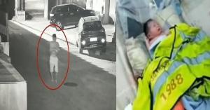 اب يلقي ابنته الرضيعة في سلة المهملات.. فيديو