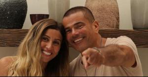 عمرو دياب سيعلن عن مفاجأة تخص دينا الشربيني
