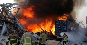 انفجار خزان وقود في بيروت