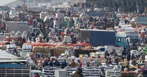 10 آلاف شخص تواجدوا في السوق المركزي اليوم خلال 4 ساعات بعد الحظر