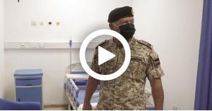 الملك يفتتح المستشفى الميداني في الزرقاء (فيديو)