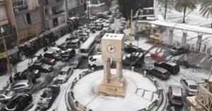 عاصفة بَرَد استثنائية تضرب بيروت