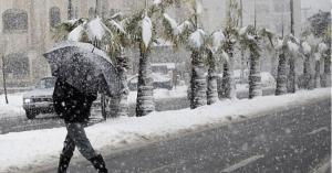 """منخفض قطبي """"قد يتطور"""" وثلوج قادمة إلى الأردن"""