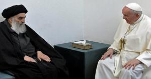 لقاء تاريخي بين البابا فرنسيس والسيستاني في النجف