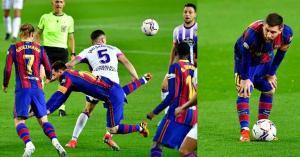 ميسي يشتكي من حكم مباراة برشلونة ضد بلد الوليد