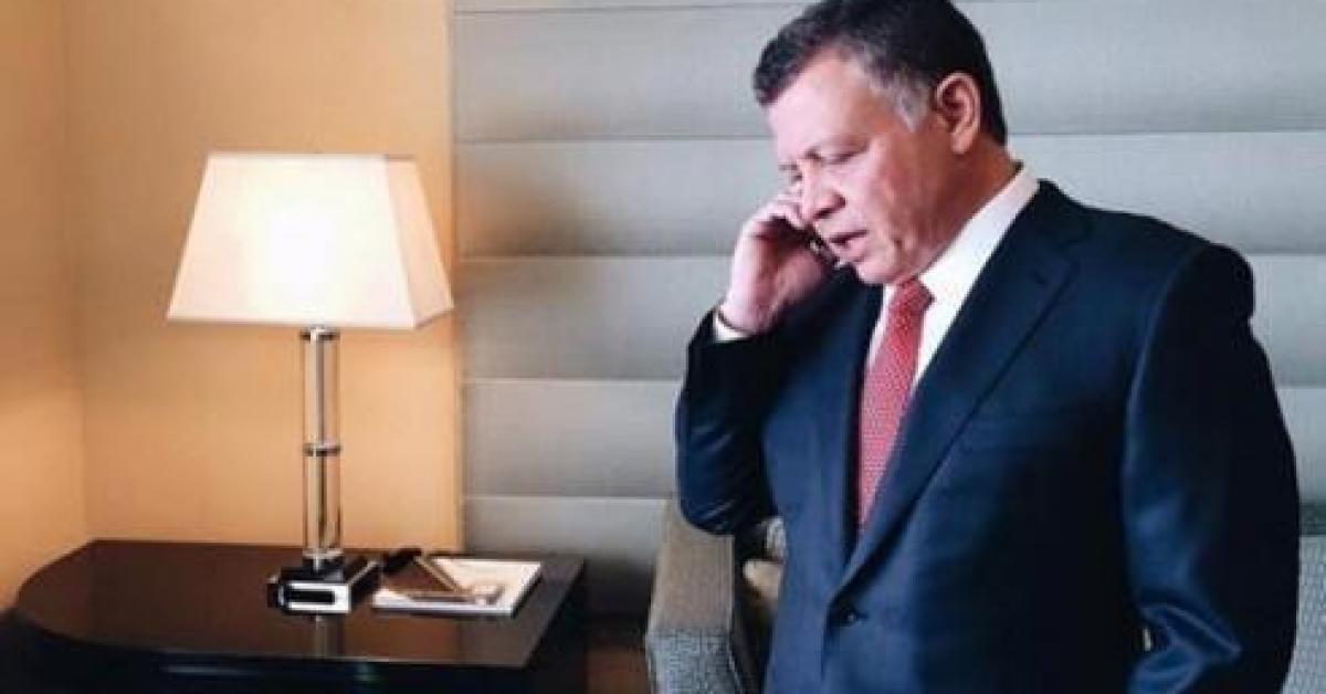 الملك يتلقى اتصالا هاتفيا من العاهل البحريني