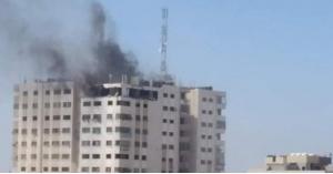 قصف يستهدف برج الأندلس شمال غزة
