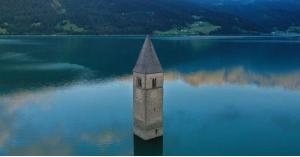 """العثور على """"قرية مفقودة"""" تحت بحيرة في إيطاليا"""