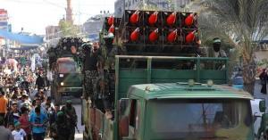 عرض عسكري للقسام في غزة