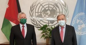 الملك يلتقي الأمين العام للأمم المتحدة