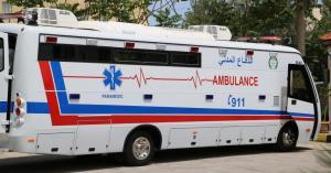ما هي حافلة الدفاع المدني الضخمة التي شوهدت أمام المستشفى الميداني امس ؟
