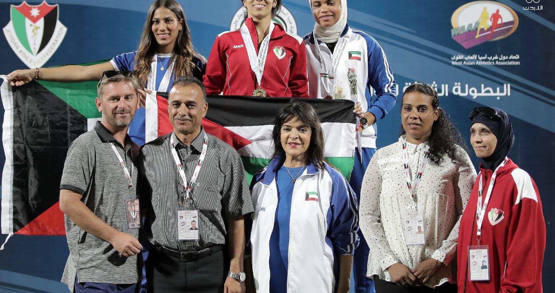 المنتخب يحصد 37 ميدالية في بطولة غرب آسيا لألعاب القوى