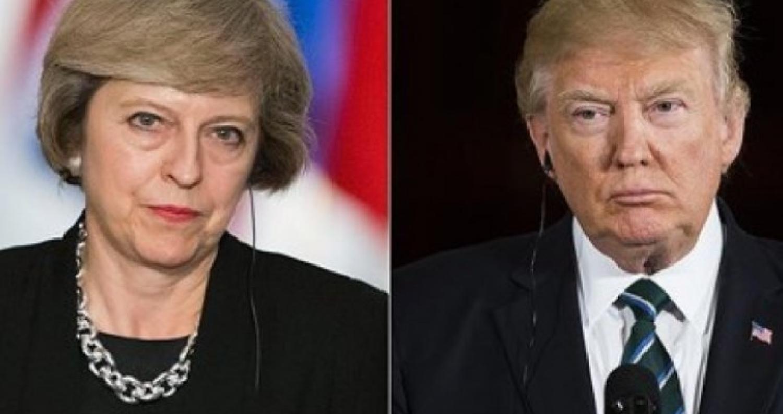رئيسة الوزراء البريطانية تبحث مع الرئيس ترمب إبرام اتفاقية تجارية