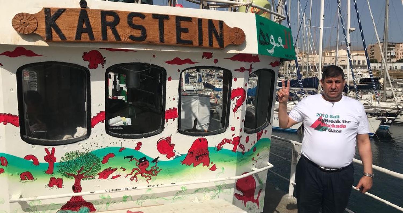 من جزيرة صقلية الايطالية حيث يستعد للمشاركة في سفن كسر الحصار عن غزة ، النائب يحيى السعود - رئيس لجنة فلسطين في البرلمان الاردني يصرح
