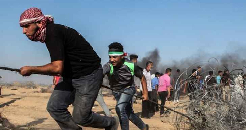 مسيرات العودة على الحدود الشرقية لقطاع غزة