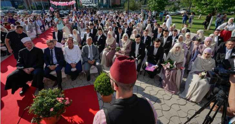 أضخم حفل زواج جماعي في أوروبا