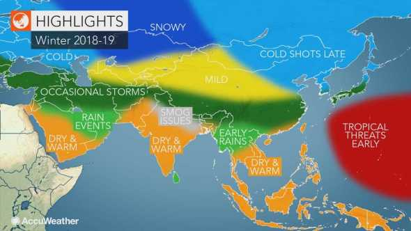 موقع أرصاد عالمي: موسم شتاء قاسٍ سيشهده الأردن