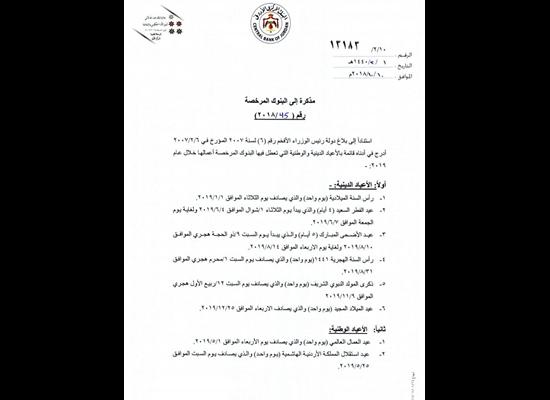 موعد عيد الفطر 2019 في الاردن | سما الأردن الإخباري